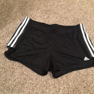 Size L Adidas black running shorts Womens NWOT